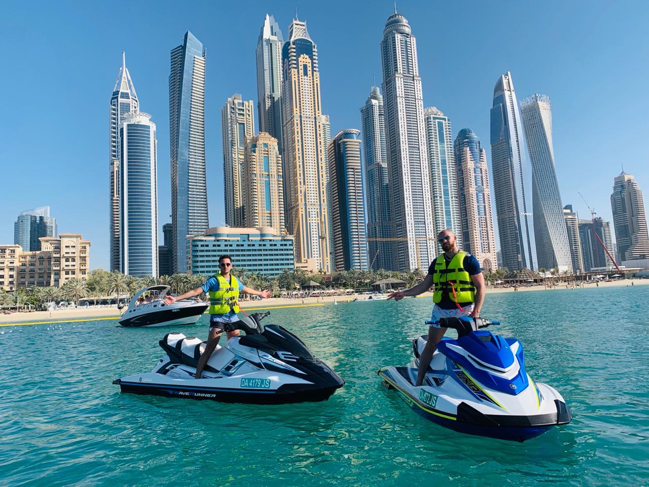 jet ski stop at Dubai Marina